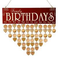 2018 DIY деревянный настенный календарь на день рождения напоминание доска особые даты знак планировщик Calendario украшения подарок
