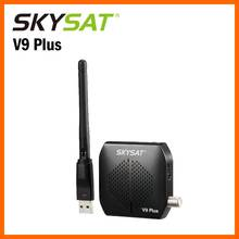 SKYSAT V9 súper mini HD receptor soporte suave CS DE LA AYUDA 2 xusb powervu Biss WiFi 3G Youtube PVR USB DVB-S2 Set Top Box(China)