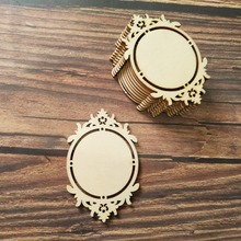 10 шт. винтажная классическая деревянная оправа для зеркала формы деревянные украшения орнамент для скрапбукинга карты настенные подвесные DIY рамки