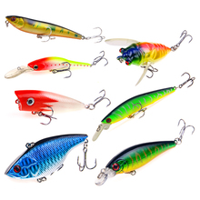 YTQHXY 1Pcs Fishing Lure Crankbait Exhausting Popper Bait with 2 Fishing Hooks Lure 3D Eyes Wobblers Fishing Sort out Pesca WQ000
