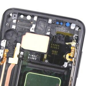Image 4 - サムスンS8 液晶、収入とスーパーamoledフレーム用のタッチスクリーンアセンブリとサムスンG950 G950F液晶画面 100% テスト