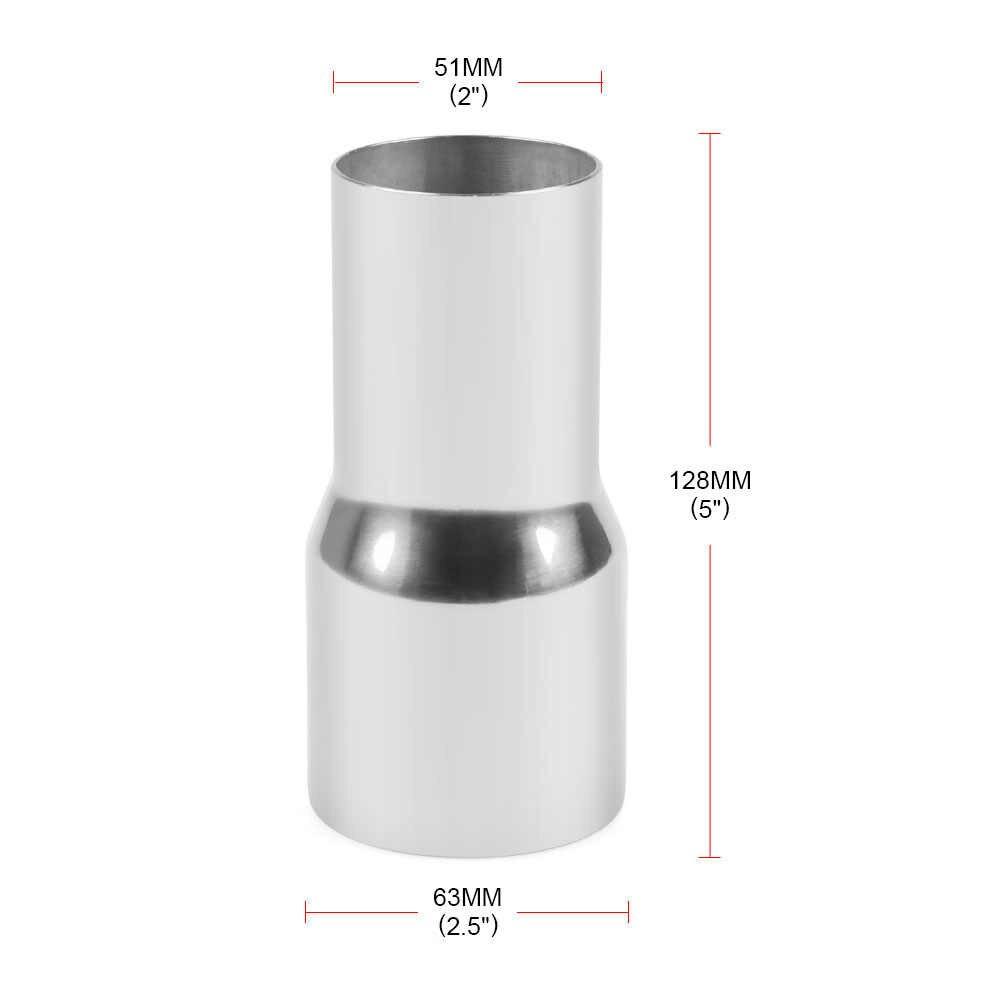 Diámetro exterior: 2 pulgadas, 2,25 pulgadas, 2,5 pulgadas, 3 pulgadas, acero inoxidable, reductor estándar de escape, tubo conector