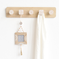 Home Wall Mounted Bathroom Kitchen Room Cloth Towel Rack Coat Hat Holder Hanger Hat Coat Door Clothes Rack For Home Decoration