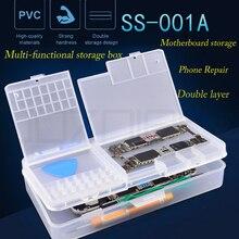 Многофункциональный мобильный телефон ремонт коробка для хранения IC запчасти смартфон Открытие Инструменты коллектор