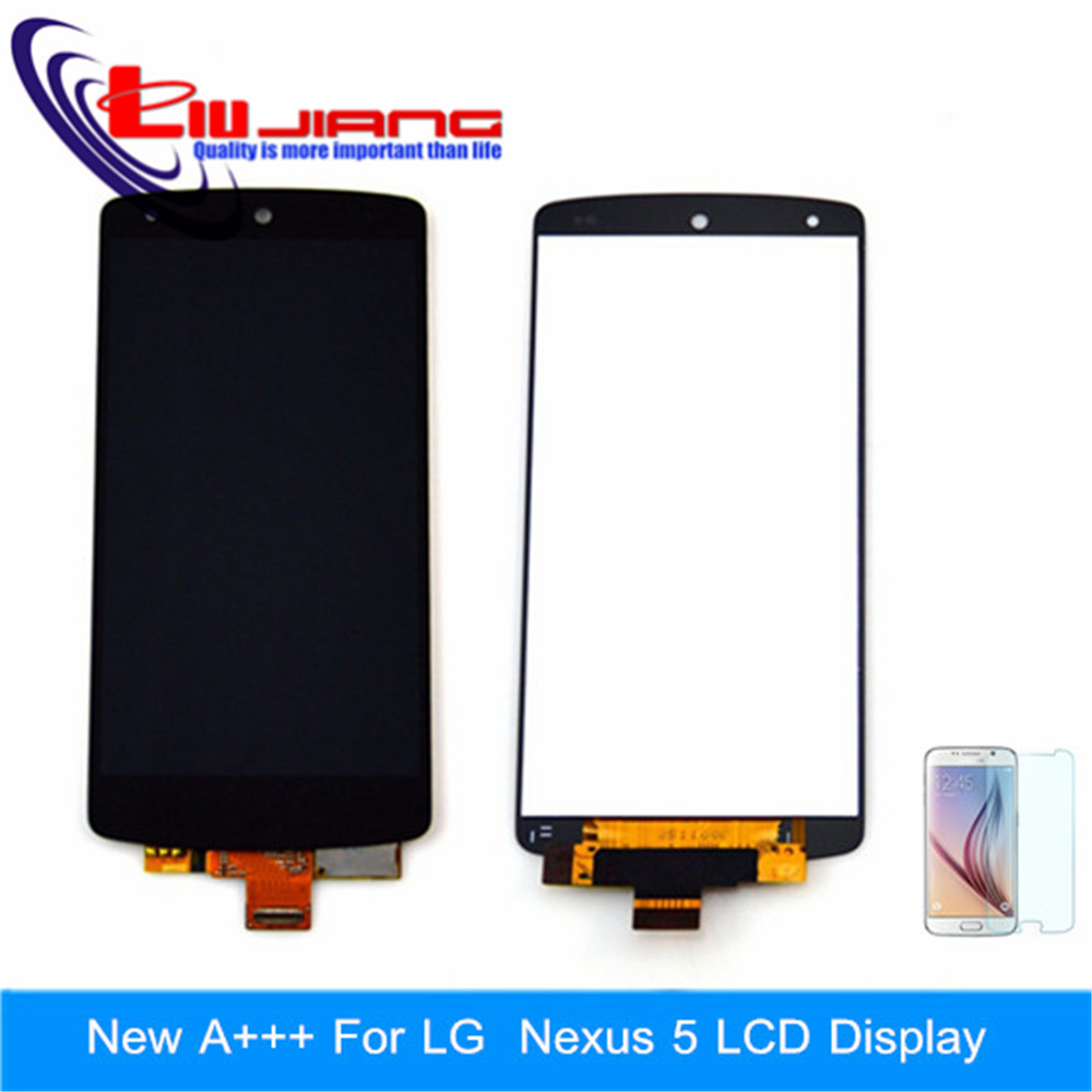 Black Screen For LG Google Nexus 5 D820 D821 LCD Display Touch Screen Digitizer Assembly +LCD Adhesive Tools Free shipping black lcd screen display with touch digitizer frame assembly for lg google nexus 5 d820 d821 free tools and free shipping