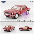 Brand New KINGSMART 1/36 Scale USA 1964 Ford MUSTANG Diecast Metal Pull Back Car Model Toy For Gift/Kids/Collection