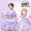 Fantasia Vestidos Children Kids Cosplay Sofia Dresses Halloween Costume Princess Wear Perform Clothes Ball Party Dress
