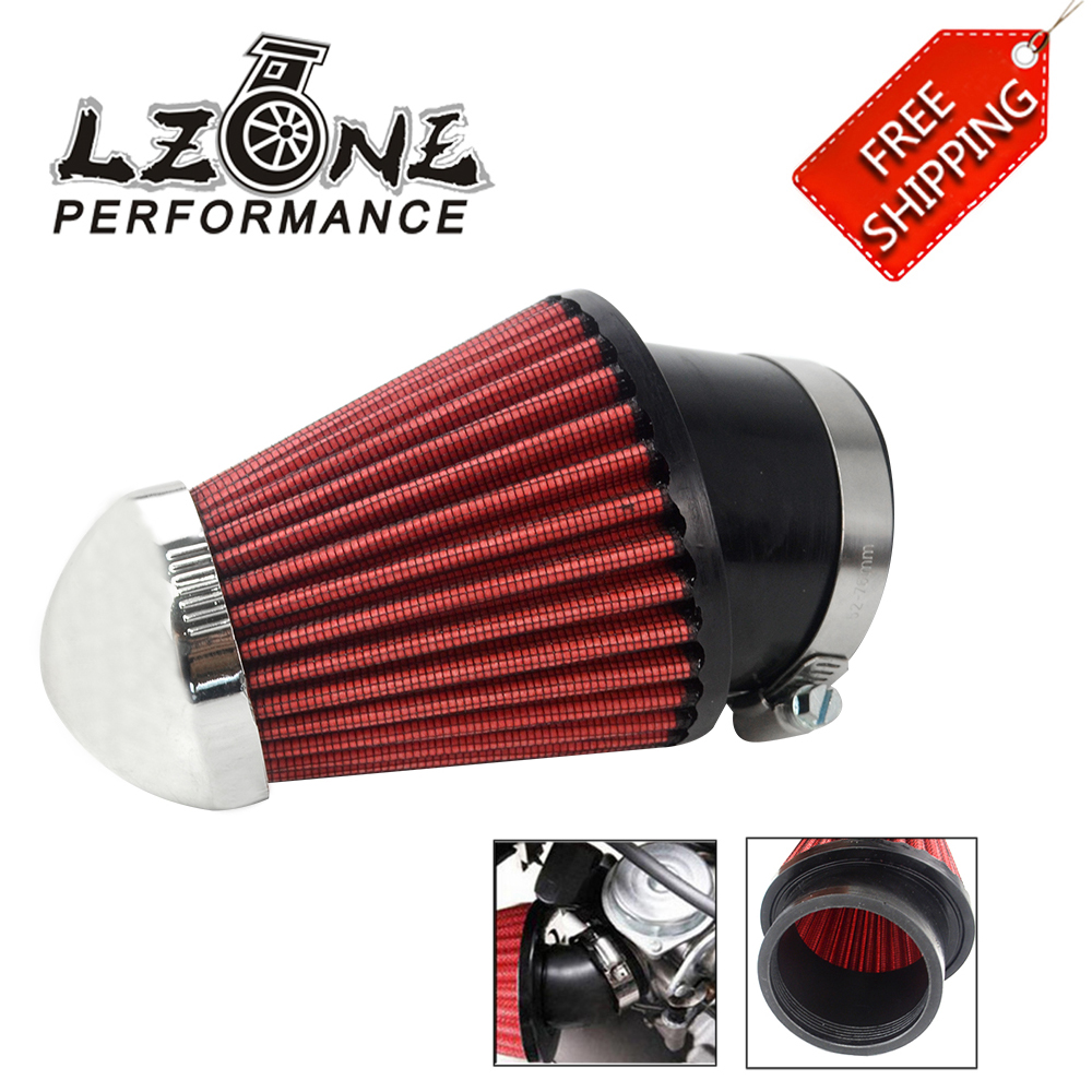 32mm Pitbike Air Filter Chrome Performance Mushroom Angled Neck With Cover