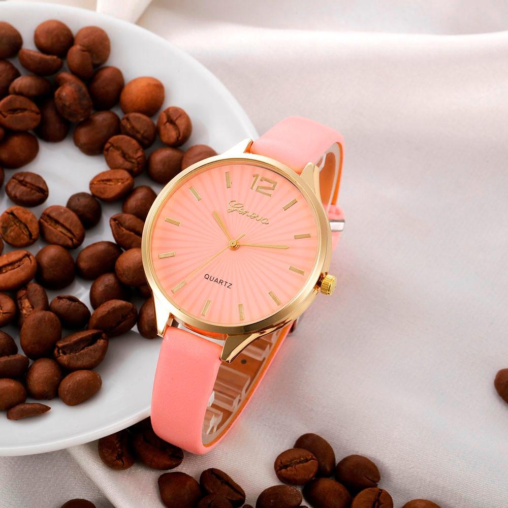 2018 Ladies Fashion Watch Women Classic Casual Quartz Watches Leather Strap Wristwatches Dress Clock Relogio Feminino #F