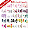 52Designs 100pcs Self Adhesive Nail Art Sticker Wraps Cartoon Solid Full Cover Nail Patch Foil Decals