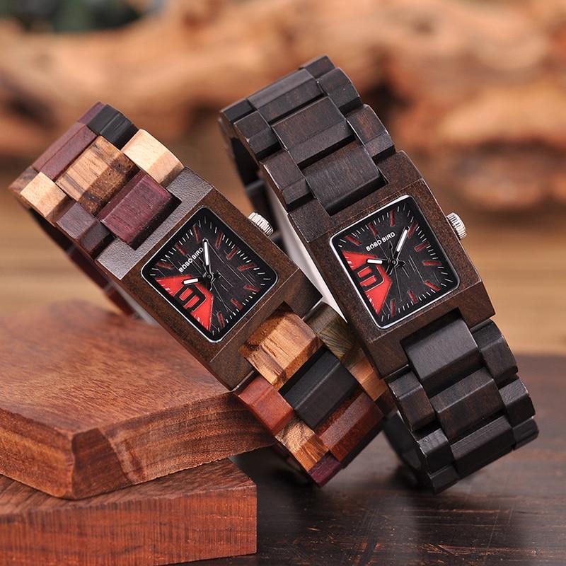 Image 2 - BOBO BIRD Casual Women Quartz Watches Ladies Wood Wristwatch Best Gift For Girlfriend Birthday Present relogio feminino L S02Womens Watches   -