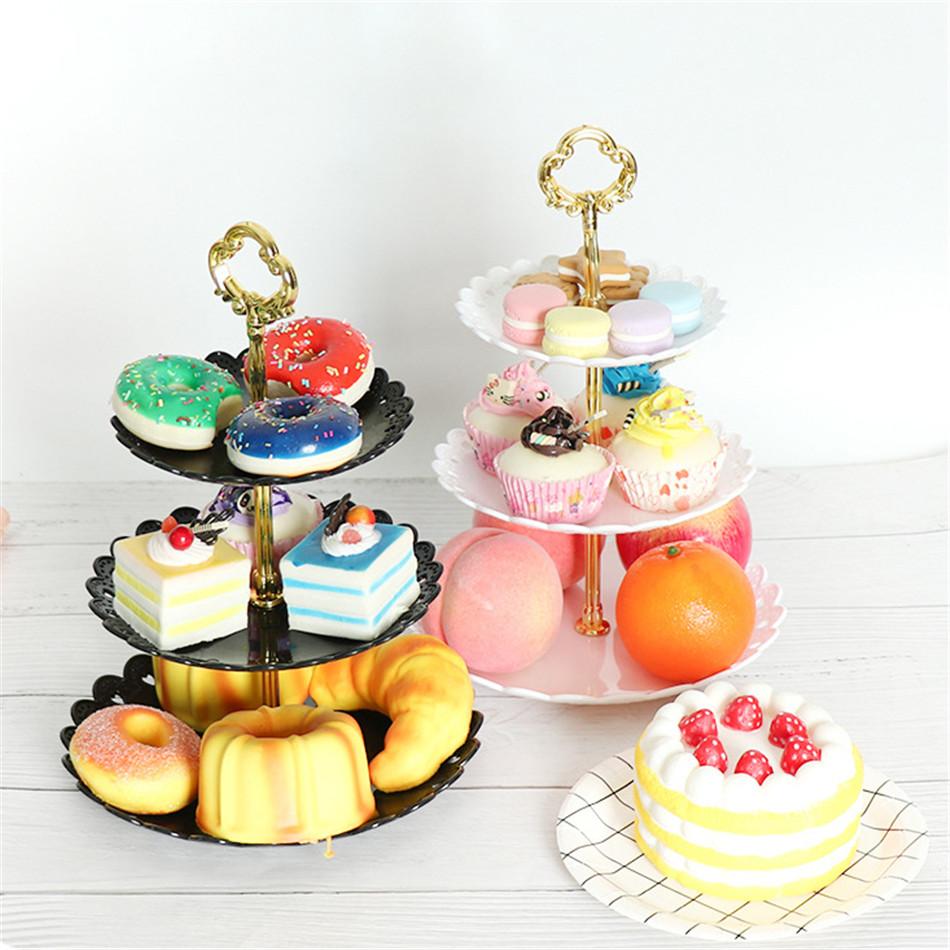 Terrific Vogvigo Cake Stand 3 Layers Wedding Cake Plate Stand Dessert Birthday Cards Printable Trancafe Filternl