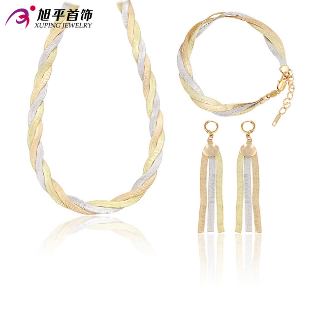 Xuping Fashion Sets 2016 New Arrival Luxury Style Jewelry Sets Multicolor Plated Women Party Promotion Gift 63428