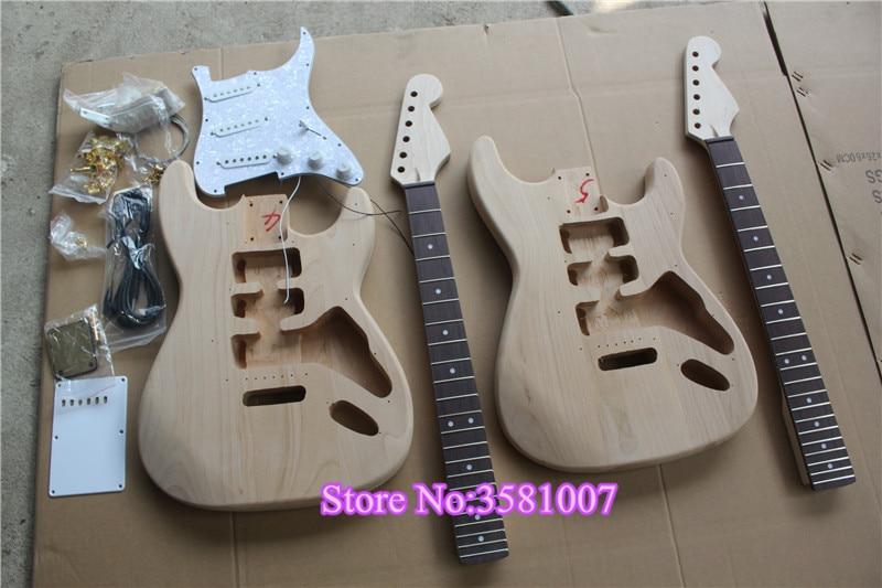 Electric-Guitar Gold Hardware Alder Wood Body Fingerboard White Pickguard Natural-Color