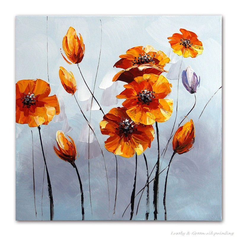 gold floral paintings for sale handmade oil acrylic painting hand painted modern home decor wall