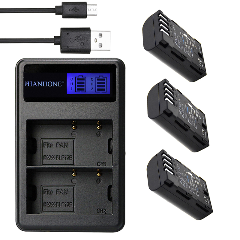 Batterien 4 Pc 2200 Mah Dmw-blf19 Dmwblf19e Dmw Blf19 Dmw-blf19e Blf19pp Batterie & Lcd Ladegerät Für Panasonic Lumix Gh3 Gh4 Gh5 Dmc-gh3
