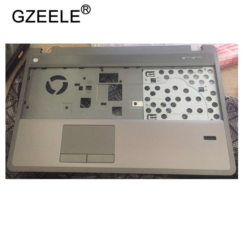 GZEELE New Plamrest For HP ProBook 4540s 4545s 683506-001 Upper Case Keyboard Bezel Without Touchpad Silver Top COVER Assembly