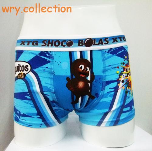 De alta calidad de los hombres del boxeador shorts España marca cuecas tronco de algodón de dibujos animados sexy ropa interior de gran tamaño XL de Mediana altura venta al por menor
