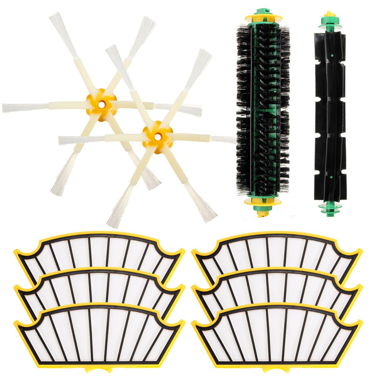 2018 Replacement Filter Brush Round Cleaning Tool Accessories Kit For iRobot Roomba 500 Series 510 530 540 550 560 580 570 14pcs free post new side brush filter 3 armed kit for irobot roomba vacuum 500 series clean tool flexible bristle beater brush