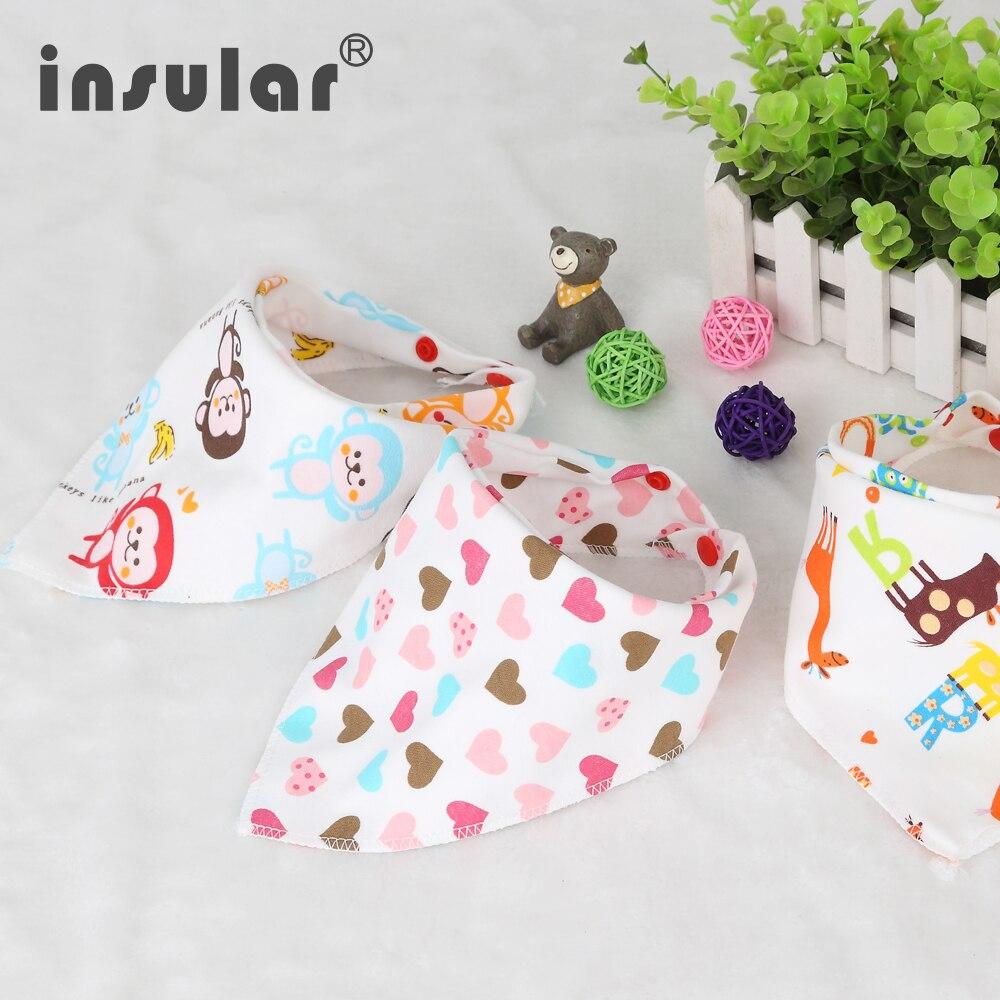 Baberos de bebé recién nacido de algodón lindo babero de alimentación bebé Bandana Burp paño para niñas y niños doble cara bufanda de bebé