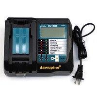 리튬 이온 배터리 충전기 DC18RF 드릴 부품 3.5A 충전 전류 USB 2.1A 출력 LCD BL1830 Bl1430 For Mukita 18V 14.4V 배터리