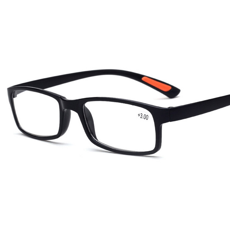 2017 new optical very light full frame clear reading glasses men women elderly computer eyewear black
