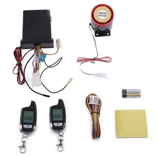 NT - MS002 Universal Water Resistance Two Way LCD Motorcycle Anti-theft Security Alarm System with Waterproof Main Engine