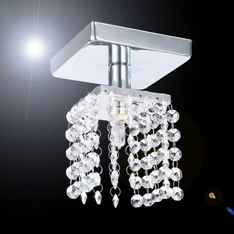 Modern Led Crystal Lamp Lighting Chrome Ceiling Lights Home Decoration luminaria led lampara techo plafondlamp AA