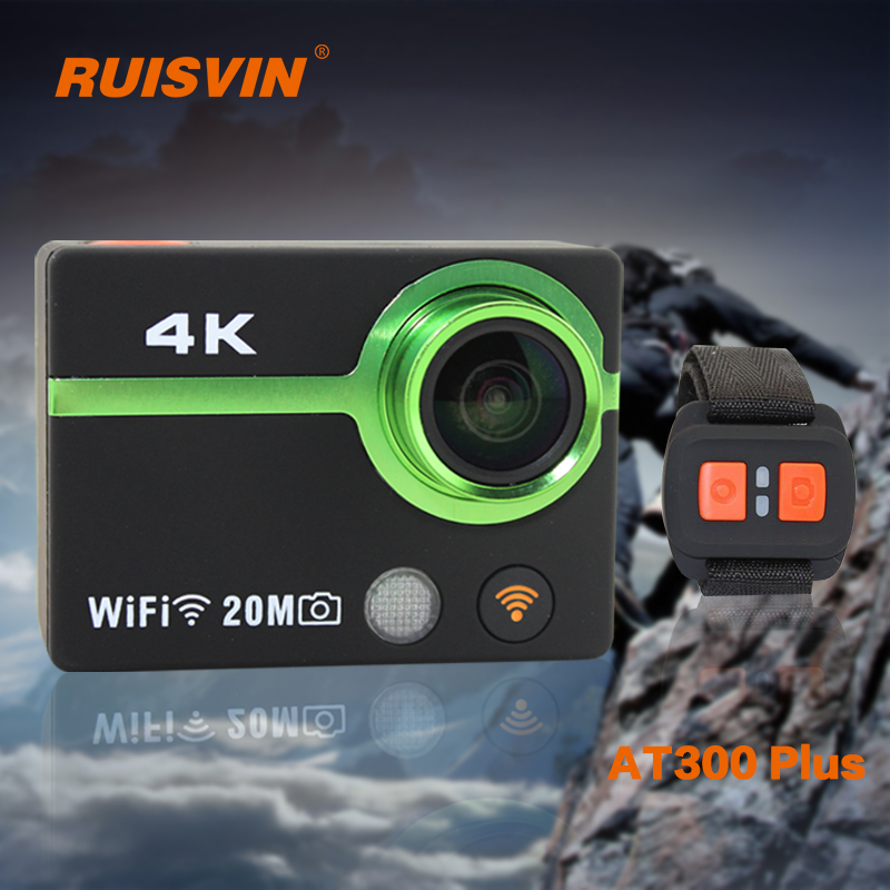 RUISVIN AT300 Plus Action Camera Full HD Sports DV Helmet Cam 4K WiFi DVR Camcorder 30M Diving Go Waterproof Pro Sport Camera