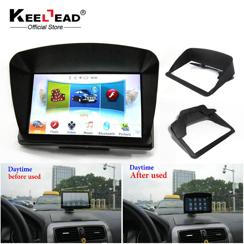 free shipping 4 3 5 4 3 inch 5 inch car gps navigator accessories sunshade sunshine shield. Black Bedroom Furniture Sets. Home Design Ideas