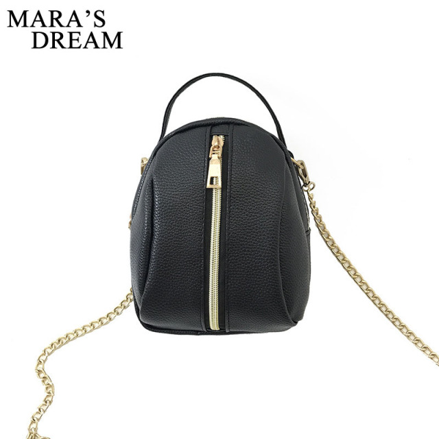 572e74c852 Mara s Dream Women Black Handbag PU Leather Double Zipper Solid Big  Capacity Crossbody Bag Headphone Hole
