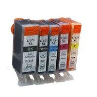 5 Kleur PGI520 CLI521 Inkt Cartridge Compatibel Voor Canon IP3600 IP4600 IP4700 MP540 550 MP560 MP620 MP630 MP640 MP980 MP990 inkt