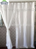 European style white lace shower curtain waterproof shower curtain unique shower curtain for bathroom