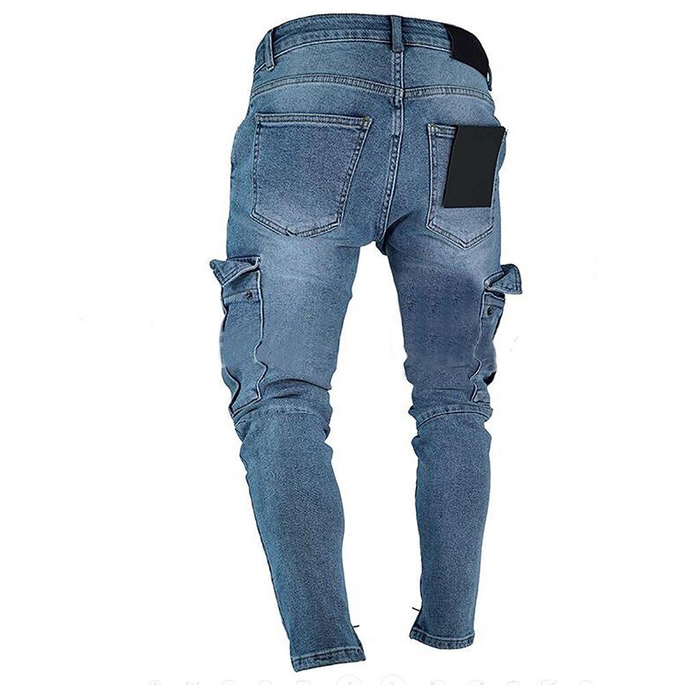 HTB1Ip1vdi6guuRjy0Fmq6y0DXXaE Men's jeans trend knee hole zipper feet pants hi road men knee eversion