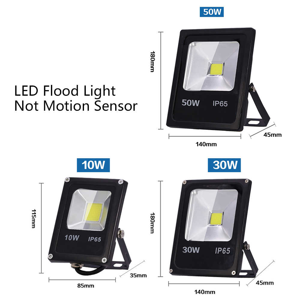 Motion Sensor LED Flood Light AC 220V 10W 30W 50W Waterproof IP65 Outdoor Lighting Reflector Floodlight Lamp foco Exterior Spot