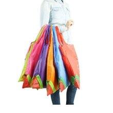 Продуктовый клубника эко складные большая многоразовые нейлон хранения складной цветов сумки