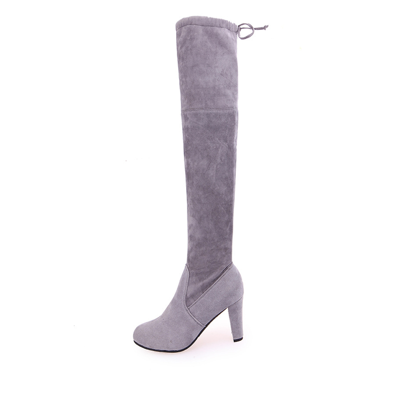 36da6e96de Bowtie Over The Knee High Women Boots Faux Suede Stretch Slim Boots Pointed  Toe High boots Shoes Woman 43 Size SWE0009-in Over-the-Knee Boots from Shoes  on ...