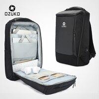 OZUKO для мужчин 17 дюймов ноутбук рюкзак большой ёмкость водостойкие рюкзаки для Мужской USB бизнес Back Pack дорожная сумка Mochila