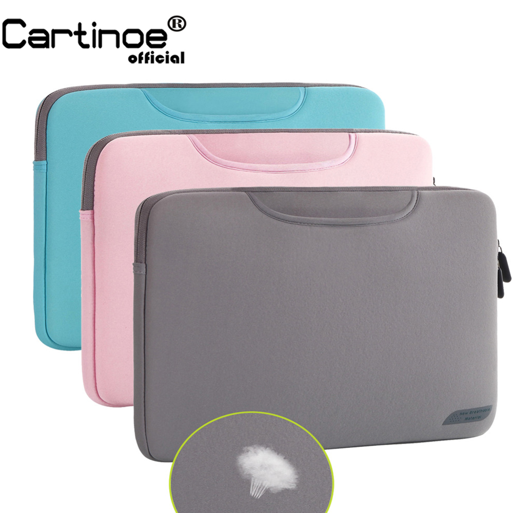 все цены на Breathable Laptop Bag for Macbook Air 13 12 Pro 13 Case Sleeve Women Men Protective Bag for Mac book Touchbar 13 15 Case Cover