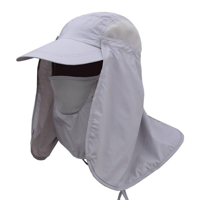 1 PC  Detachable Sun Hats Hat Face Neck Cover Ear Flap UV Sun Protection Cap Summer Fishing Unisex Women Men Hats Pro