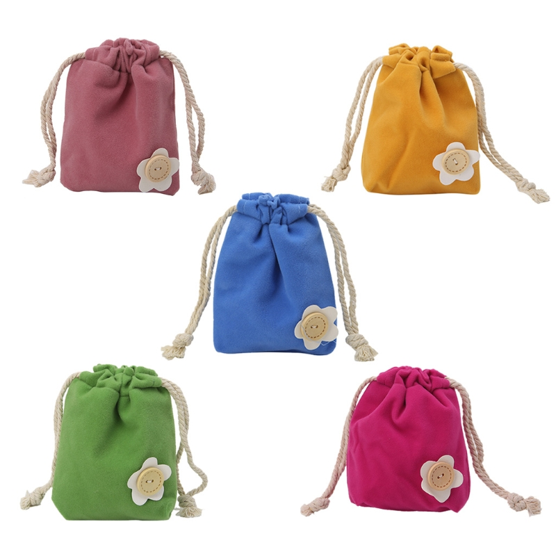 NoEnName_Null High Quality Cloth Small Drawstring Bag Christmas Candy Bags Jewelry Pouch Purse Coin Case Gift New