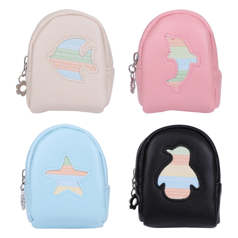 THINKTHENDO Fashion Portable Coin Purse Women Girl Children Backpack Coin Leather Wallet Small Hand Pouch Purse for Women Lady