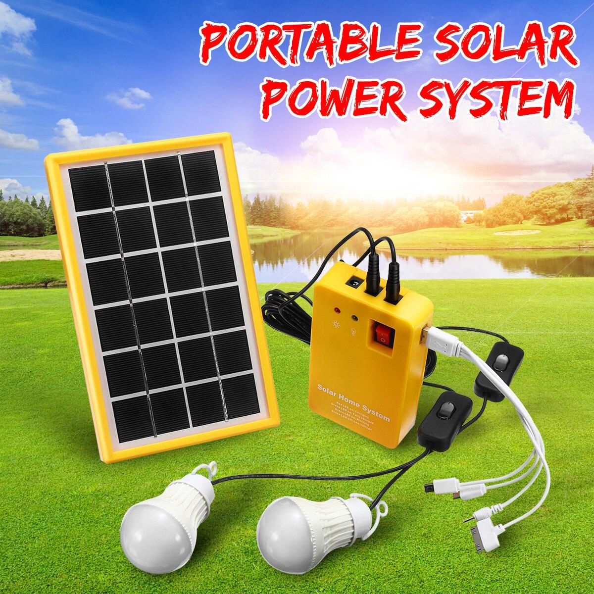 5 v carregador usb casa sistema com 3 lampadas led painel de energia solar luz gerador