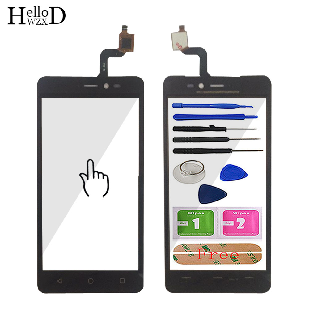 5.0'' Touch Screen Glass For Wiko Freddy Touch Glass Touch Screen Digitizer Panel Touchscreen Front Glass Tools Sensor Adhesive