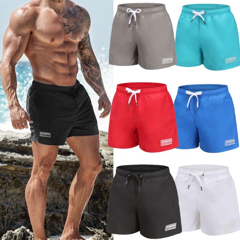 Mens   shorts   New Casual Fashion Gyms Fitness Bodybuilding   short   pants Male Jogger Knee Length Drawstring Sweatpants