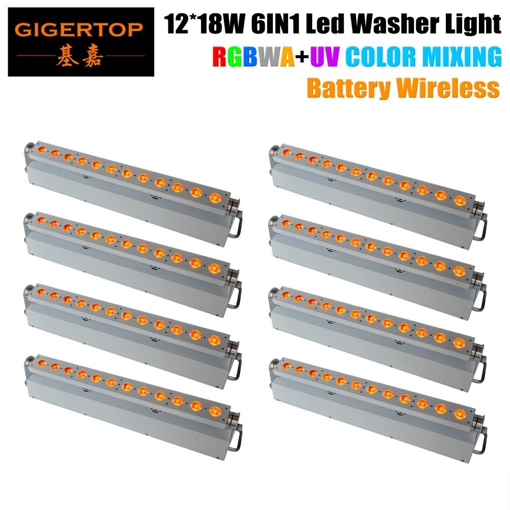 Livraison gratuite 8 XLOT Commercial mur LED lumière de lavage 12*18 W RGBWA UV LED s boîtier en aluminium boîtier en aluminium 6in1 changement de couleur linéaire