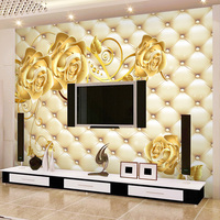 Free Shipping A Large Mural 3D Bedroom Living Room Television Sofa Backdrop Wallpaper Qiangbu High Grade