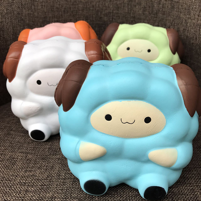 Squishy Toys Review : Random Color Anti Stress Toys Jumbo Colossal Squishy Sheep Cream Scented Stress Relief Kids ...