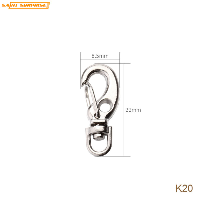 Nickel Plated Zinc Alloy C Hook Shape Swivel Keyring Keychain Key Ring For Diy Accessories Chk016 22mm X 27mm Jewelry Sets & More Key Chains