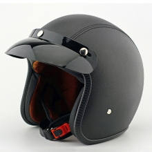 Unisex DOT Retro Motorcycle Helmets Brown Half Face Helmet Chopper Cruiser Biker High Quality ABS S/M/L/XL